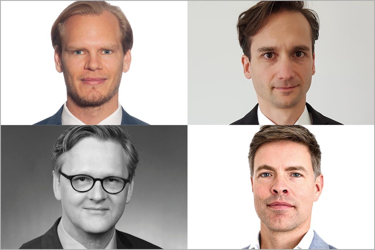 Die vier neuberufenen Professoren