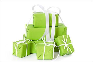 Geschenke in Geschenkpapier