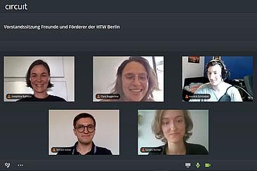 Screenshot der digitalen Preisverleihung © HTW Berlin