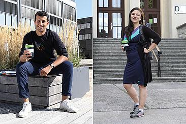 Die HTW-Studierenden Jonas (links) und Anna