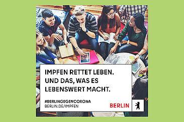 Motiv der Impfkampagne Berlin